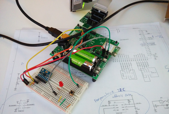 While prototyping. Breadboard and schematics