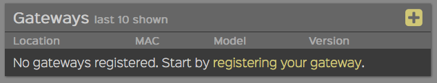 First step to registering a new gateway